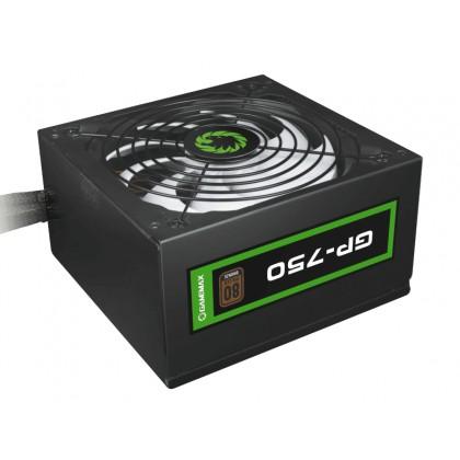 Power Supply ATX 750W GAMEMAX GP-750, 80+ Bronze, Active PFC, 140mm silent fan, Retail