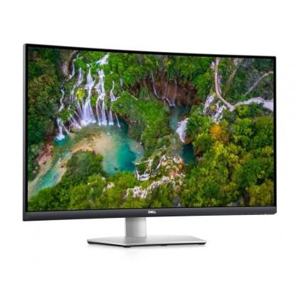"""31.5"""" DELL VA Curved LED S3221QS 4K Borderless Black/Silver (4ms, 3000:1, 300cd, 3840x2160, 178°/178°, HDMIx2, DisplayPort, Speakers 2 x 5W, Audio Line out, USB Hub: 2 x USB3.0, VESA )"""