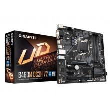 GIGABYTE B460M DS3H V2, Socket 1200, Intel® H470 (10th Gen CPU), Dual 4xDDR4-2933, CPU Intel graphics, VGA, DVI, HDMI, 2xPCIe X16, 4xSATA3, 1xM.2, 2xPCIe X1, 1xGbE LAN, 5xUSB3.2, RGB, mATX