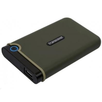 "2.0TB (USB3.1) 2.5"" Transcend ""StoreJet 25M3G"" Slim, Military Green, Rubber Anti-Shock, OT Backup"