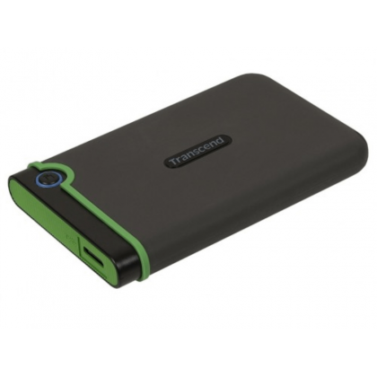 """4.0TB (USB3.1) 2.5"""" Transcend """"StoreJet 25M3S"""", Iron Gray, Rubber Anti-Shock, One Touch Backup"""
