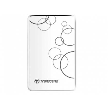 "1.0TB (USB3.1) 2.5"" Transcend ""StoreJet 25A3"", White, Anti-Shock, One Touch Backup"