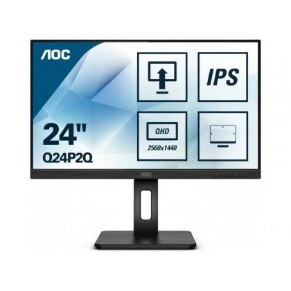 "23.8"" AOC IPS LED Q24P2Q Black 3-sides Borderless"