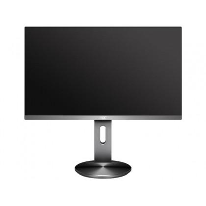 """27.0"""" AOC IPS LED I2790PQU/BT Black/Silver (4ms, 100M:1, 250cd, 1920x1080, 178°/178°, VGA, HDMI, DisplayPort, Speakers 2 x 2W, USB Hub: 4 x USB3.0, Audio Line-out, Height Adjustment, VESA)"""