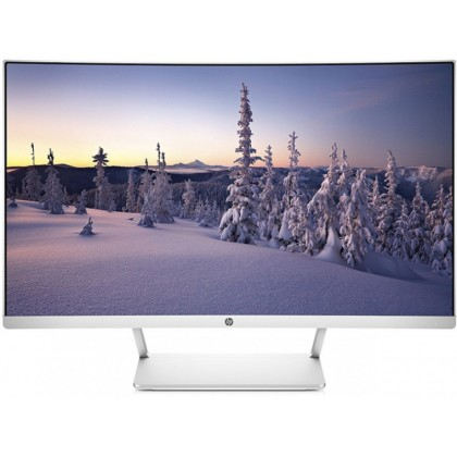 "27.0"" HP VA LED 27 Curved Display Borderless Silver (5ms, 3000:1, 300cd, 1920x1080, 178°/178°, HDMI, DisplayPort, 1800R, AMD Free-Sync, Audio Line-out, VESA)"