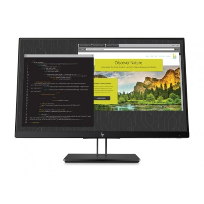 "23.8"" HP IPS LED Z24nf G2 Display Borderless Black (5ms, 10M:1, 250cd, 1920x1080, 178°/178°, sRGB coverage 99%, VGA, HDMI, DisplayPort, Pivot,  Audio Line-out, USB Hub: 2 x 3.0, VESA)"
