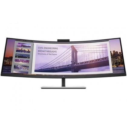 """43.4"""" HP VA LED S430c Curved Black/Silver (5ms, 32:10, 5M:1, 350cd,  3840 x 1200, 178°/178°,  HDMI, DisplayPort, 2 x USB3.0 + 2 x USB-C, Audio Line out, Webcamera FHD +2xMic + Biometrics, VESA)"""