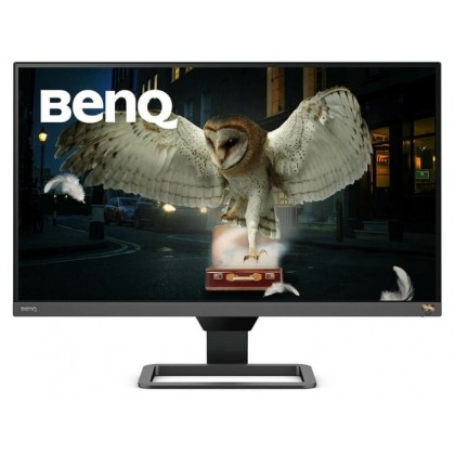 "27"" BenQ EW2780Q, Metallic Grey/Black, IPS 2560x1440, 60Hz, 5ms, 350cd, HDRi, 20M:1, HDMI+DP, Spkrs"