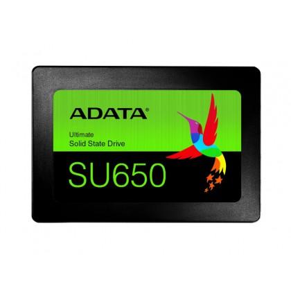 """2.5"""" SATA SSD   256GB  ADATA Ultimate SU650 [R/W:520/450MB/s, 40K/75K IOPS, MK/SMI, 3D-NAND TLC]"""