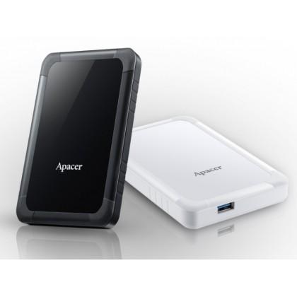 "2.0TB (USB3.1) 2.5"" Apacer AC532 Shockproof Portable Hard Drive, White (AP2TBAC532W-1)"