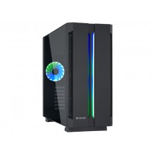 Case ATX Chieftec Chieftronic G1, w/o PSU, 1x120mm, RGB,RGB Hub, ARGB LED strip,Tempered Gass, Black