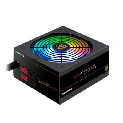 Power Supply ATX 650W Chieftec PHOTON GOLD GDP-650C-RGB, 80+ Gold, Active PFC, 140mm, Modular, RGB