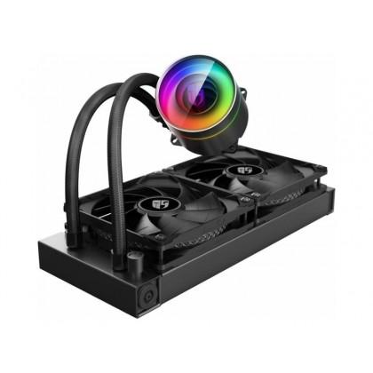 "AIO Liquid Cooling Deepcool ""CASTLE 240 EX"" (<32.1dBA, 64.4CFM, 2x120mm, RGB LED, 1420g.)"