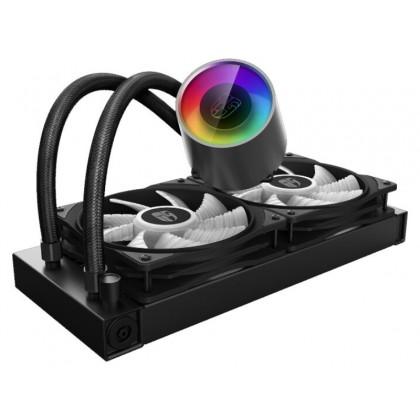 """AIO Liquid Cooling Deepcool """"CASTLE 240 RGB V2"""" (?30 dB(A), 69.34 CFM, 2x120mm, RGB LED, 1426g.)"""
