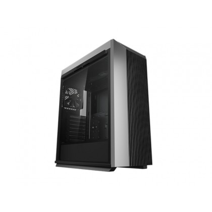 """DEEPCOOL """"CL500"""" ATX Case, with Side-Window (full sized 4mm thickness) Magnetic, without PSU, Pre-installed: Rear: 1x120mm DC fan, 2xUSB3.0, 1xType-C /Audio, Black"""