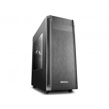 Case ATX Deepcool D-SHIELD V2, w/o PSU, 1x120mm, Magnetic dust filter, Cable Managem, USB3.0, Black