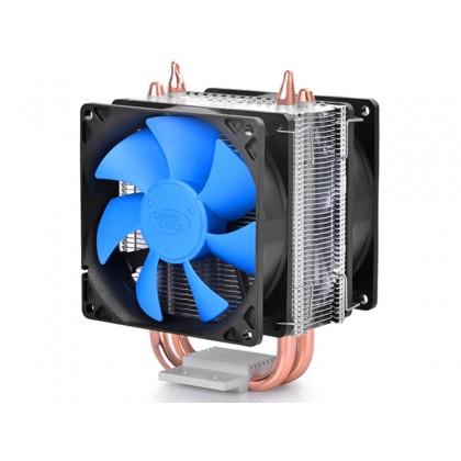 "DEEPCOOL Cooler ""ICE BLADE 200M"", Socket LGA20XX/LGA1366/LGA1200/1151/1150/1155/LGA775 & AM4/AM3+/AM3/AM2+/AM2/FM2+/FM2/FM1, up to 130W, 2x fan: 92х92х25mm, 2200rpm, 17.8-30dBA"