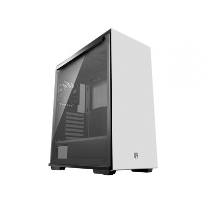 """DEEPCOOL """"MACUBE 310 WH"""" Gamer Storm ATX Case, with Side-Window (Tempered Glass Side Panel) 1 fans pre-installed (1x120mm DC fan), 2xUSB3.0, 1xAudio,1xMic, White"""