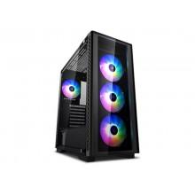 Case ATX Deepcool MATREXX 50 ADD-RGB 4F, w/o PSU, 4x120mm, RGB, Tempered Glass, USB3.0, Black