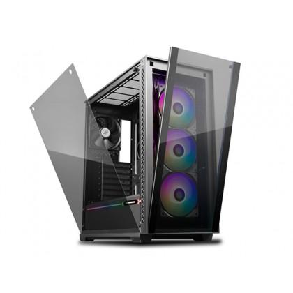 Case ATX Deepcool MATREXX 70 ADD-RGB 3F, w/o PSU, 4x 120mm fans (3x RGB+1x Black), TG, USB3.0, Black