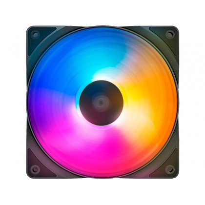 "120mm Case Fan - DEEPCOOL ""RF120 FS"", Customizable LED Lighting (purple/blue/orange), 120x120x25mm, 500-1500rpm, <17.8~27dBa, 56.5CFM, Hydro Bearing, 4Pin, PWM, 12V 4-pin port"