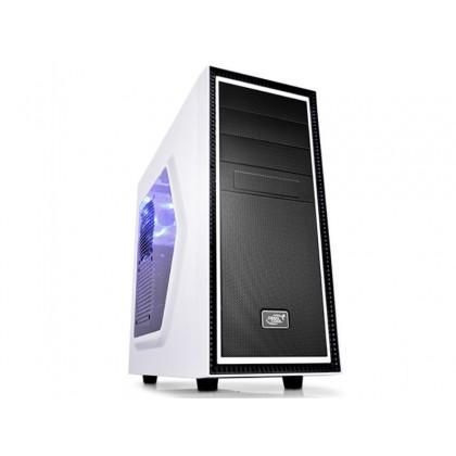 Case ATX Deepcool TESSERACT SW-WH, w/o PSU, 2x120mm, Blue LED, Side Window, USB3.0, White