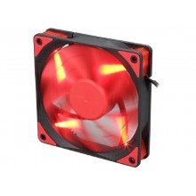 "120mm Case Fan - DEEPCOOL Gamer Storm TF series ""TF120"" Fan with Red LED, 120x120x26mm, 500-1800rpm, <17.6~31.3dBa, 76.5CFM, Fluid Dynamic Bearing, 4Pin, PWM, 2-Layer Blade Design"