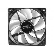 """120mm Case Fan - DEEPCOOL """"WIND BLADE 120 WHITE"""" Fan with 4 white  LED, 120x120x25mm, 1300rpm, <26dBa, 65.16CFM, Hydro Bearing, Black"""