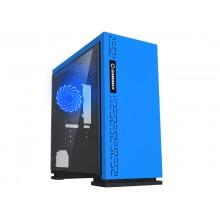 Case mATX GAMEMAX EXPEDITION, w/o PSU,1x120mm, Blue LED, USB3.0, Acrylic Window, Blue