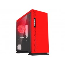 Case mATX GAMEMAX EXPEDITION, w/o PSU,1x120mm, Red LED, USB3.0, Acrylic Window, Red