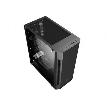 Case ATX GAMEMAX Fortress TG, w/o PSU, 3x120mm fans, PWM Controller, Tempered Glass, USB3.0, Black