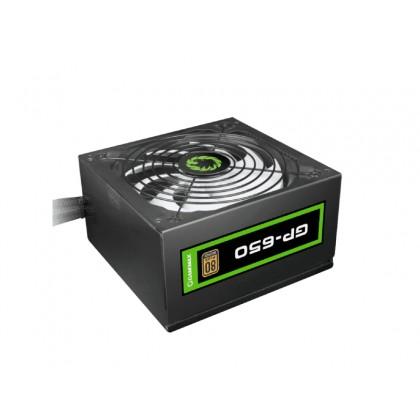 Power Supply ATX 650W GAMEMAX GP-650, 80+ Bronze, Active PFC, 140mm silent fan, Retail