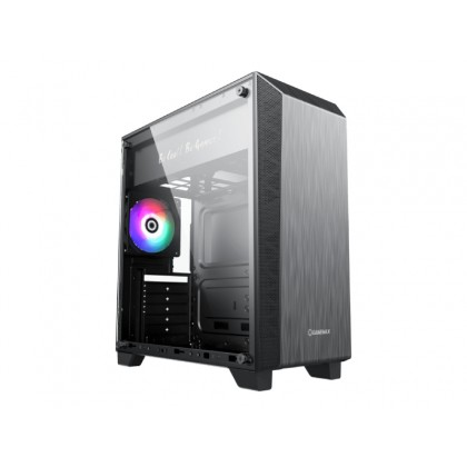 Case ATX GAMEMAX Nova N5, w/o PSU, 1x120mm, FRGB LED fan, ARGB LED strip, TG, USB 3.1, Black