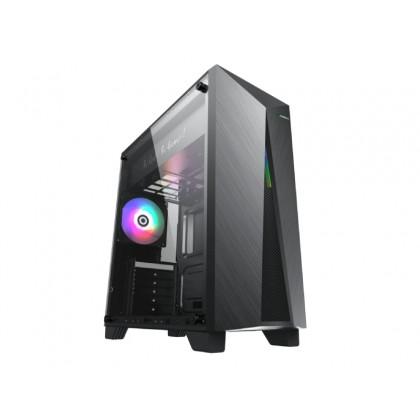 Case ATX GAMEMAX Nova N6, w/o PSU, 1x120mm, ARGB LED fan, ARGB LED strip, TG, USB 3.1, Black