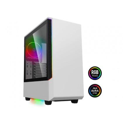 Case ATX GAMEMAX Panda T802, 1x120mm ARGB fan, 3xARGB LED strip, PWM/Rainbow HUB, USB3.0, TG, Black