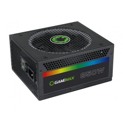Power Supply ATX 850W GAMEMAX RGB-850, 80+ Gold, Full Modular cable, Active PFC,140mm, RGB