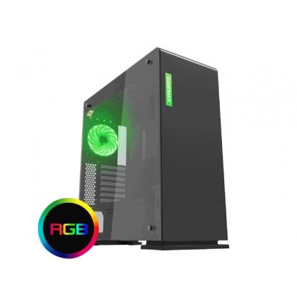 Case ATX GAMEMAX VEGA, w/o PSU, 1x120mm RGB fan, RGB LED Strip, PWM Controller, TG, USB3.0, Black