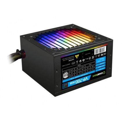 Power Supply ATX 700W GAMEMAX VP-700-RGB, 80+ Bronze , Active PFC, 120mm RGB fan, Fan Control