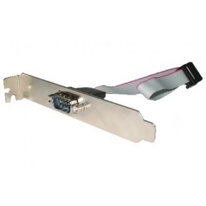 Bracket COM port - Gembird CCDB9RECEPTACLE, Serial port receptacle on bracket housing, DB9M connector on the metal bracket, 25cm, bulk