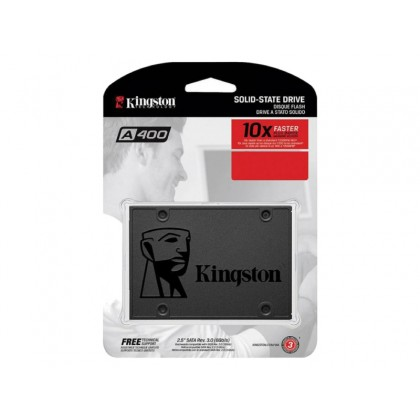 "2.5"" SATA SSD   120GB  Kingston A400 ""SA400S37/120G"" [R/W:500/320MB/s, Phison S11,  3D NAND TLC]"