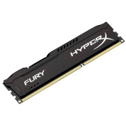 4GB DDR3-1600  Kingston HyperX® FURY DDR3, PC12800, CL10, 1.5V, Auto-overclocking, Asymmetric BLACK heat spreader