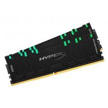 16GB (Kit of 2*8GB) DDR4-3000  Kingston HyperX® Predator DDR4 RGB, PC24000, CL15, 1.35V, BLACK heat spreader