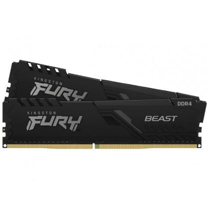 32GB DDR4-3200MHz  Kingston FURY Beast (Kit of 2x16GB) (KF432C16BB1K2/32), CL16-18-18, 1.35V,Black