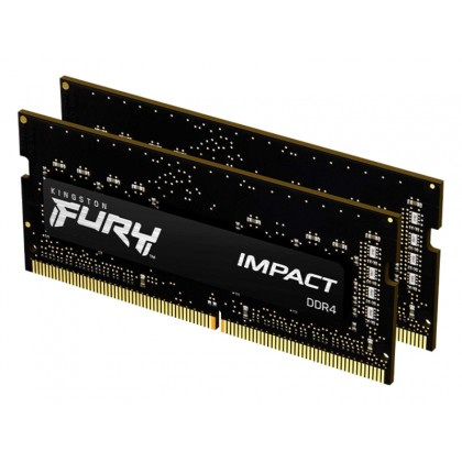 16GB DDR4-3200MHz SODIMM Kingston FURY Impact (Kit of 2x8GB) (KF432S20IB/8), CL20, 1.2V, XMP, Blk