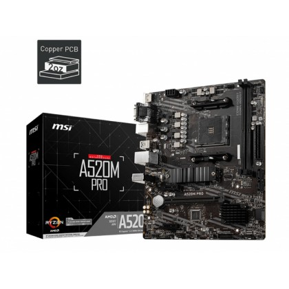 MB MSI A520M PRO, mATX
