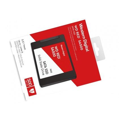 """2.5"""" SATA SSD  500GB WD Red™ SA500 NAS [R/W:560/530MB/s, 95K/85K IOPS, 350TBW, 2M MTTF, 3D-NAND TLC]"""