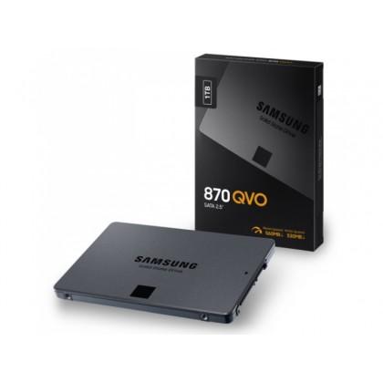 """2.5"""" SATA SSD 1.0TB Samsung   870  QVO """"MZ-77Q1T0BW"""" [R/W:560/530MB/s, 98/88K IOPS, MJX, 4bit MLC]"""