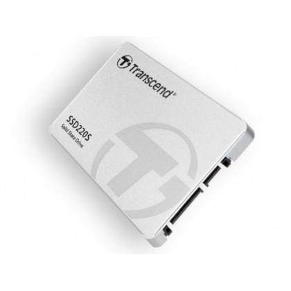 "2.5"" SATA SSD   120GB   Transcend ""SSD220"" [R/W:520/450MB/s, 28K/75K IOPS, SM2256, 3D NAND TLC]"