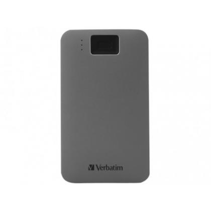 "2.5"" External HDD 2.0TB (USB3.2/USB-C)  Verbatim Executive Fingerprint Secure, Grey, Aluminium, Sleek, Nero Backup Software, Green Button Energy Saving Software"