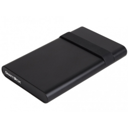 """2.5"""" External HDD 500GB (USB3.2) SmartDisk (by Verbatim) Mobile Drive 500GB with Cable Tidy, Black, Official Recertified Hard Drives, Tested Verbatim quality standards"""